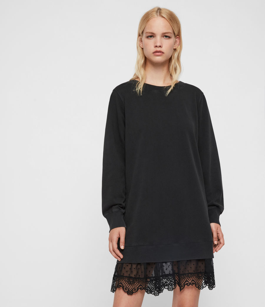 Women's Yama Sweat Dress (washed_black) - Image 1