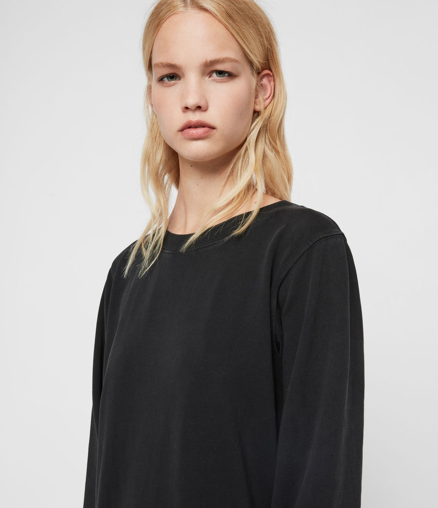 Women's Yama Sweat Dress (washed_black) - Image 2