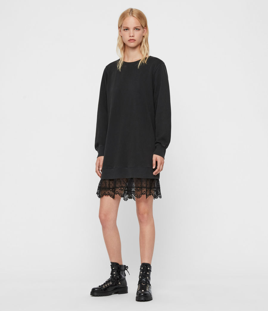 Women's Yama Sweat Dress (washed_black) - Image 3