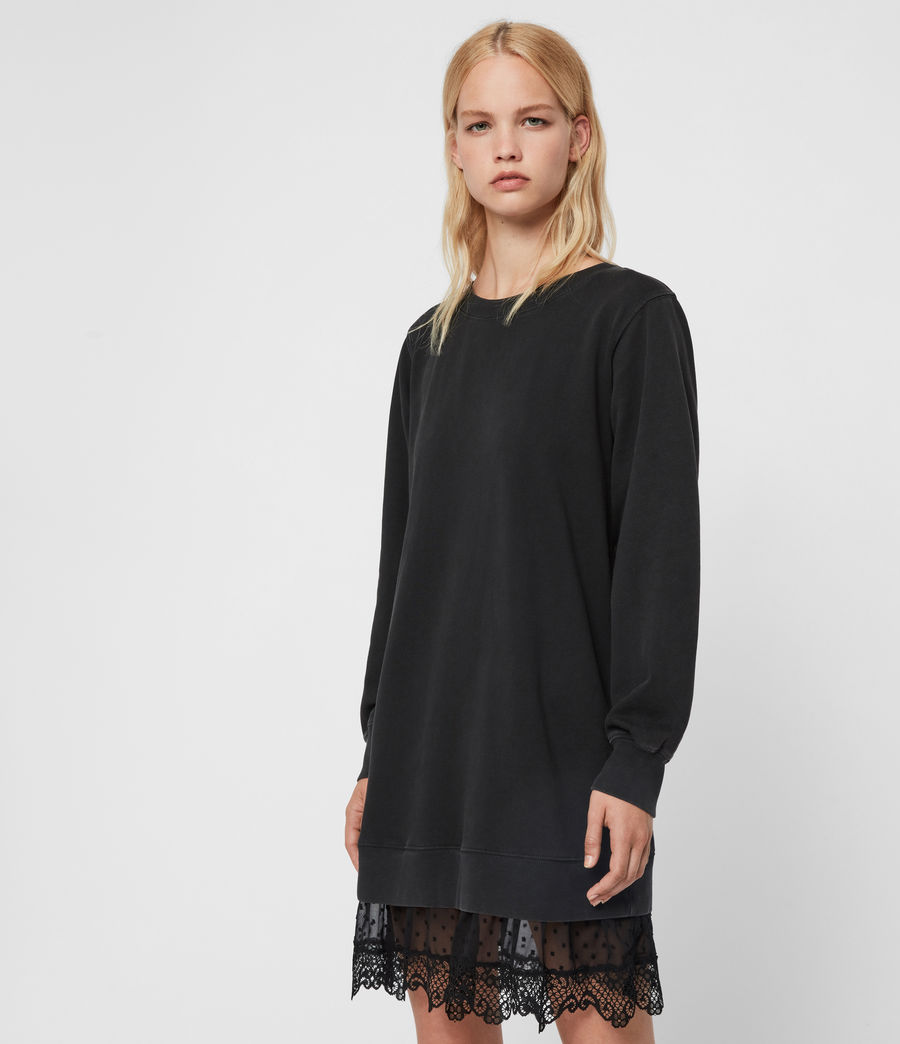 Women's Yama Sweat Dress (washed_black) - Image 4