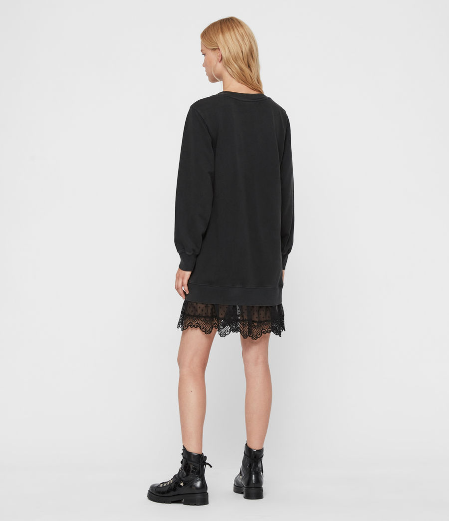 Women's Yama Sweat Dress (washed_black) - Image 6