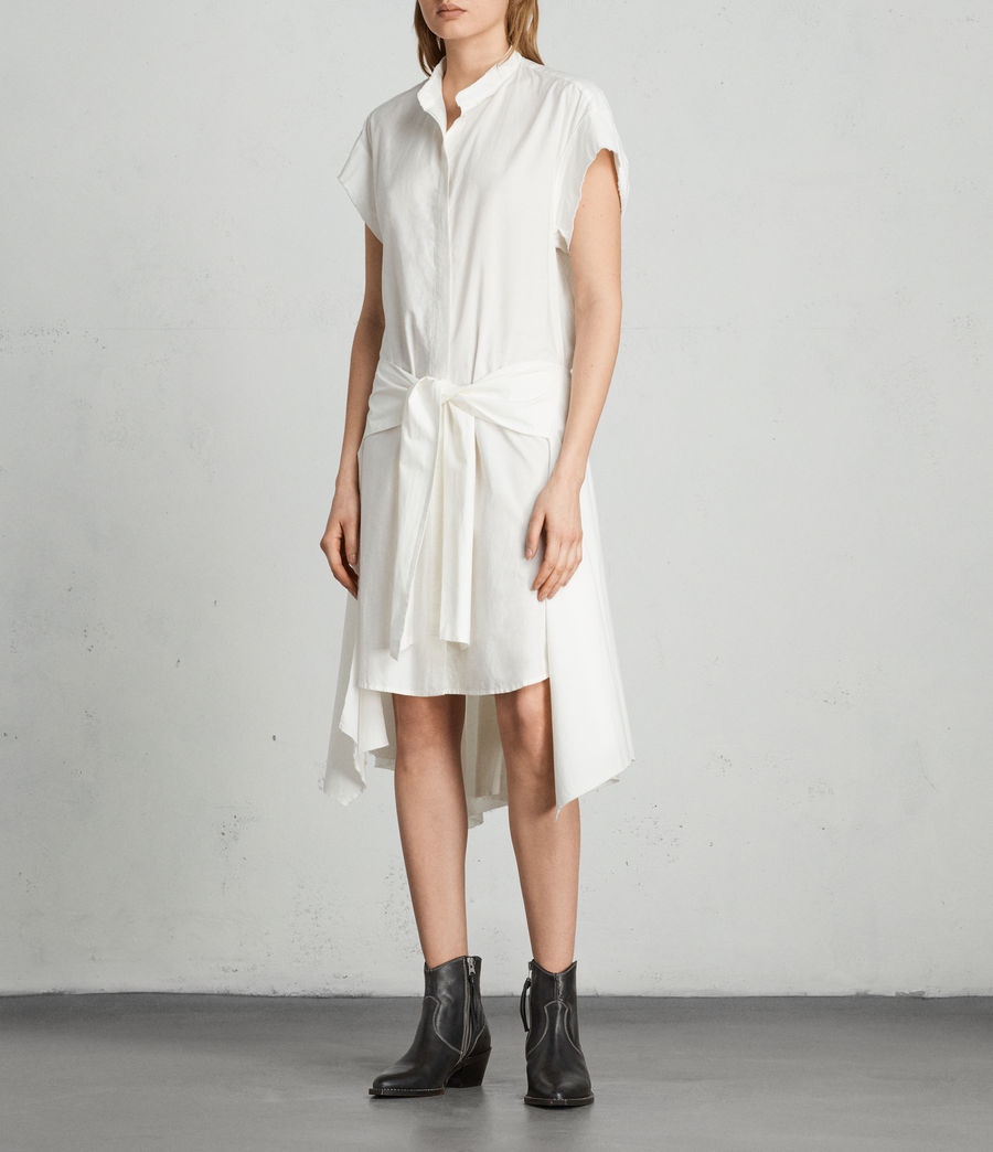 Women's Georgia Dress (chalk_white) - Image 3