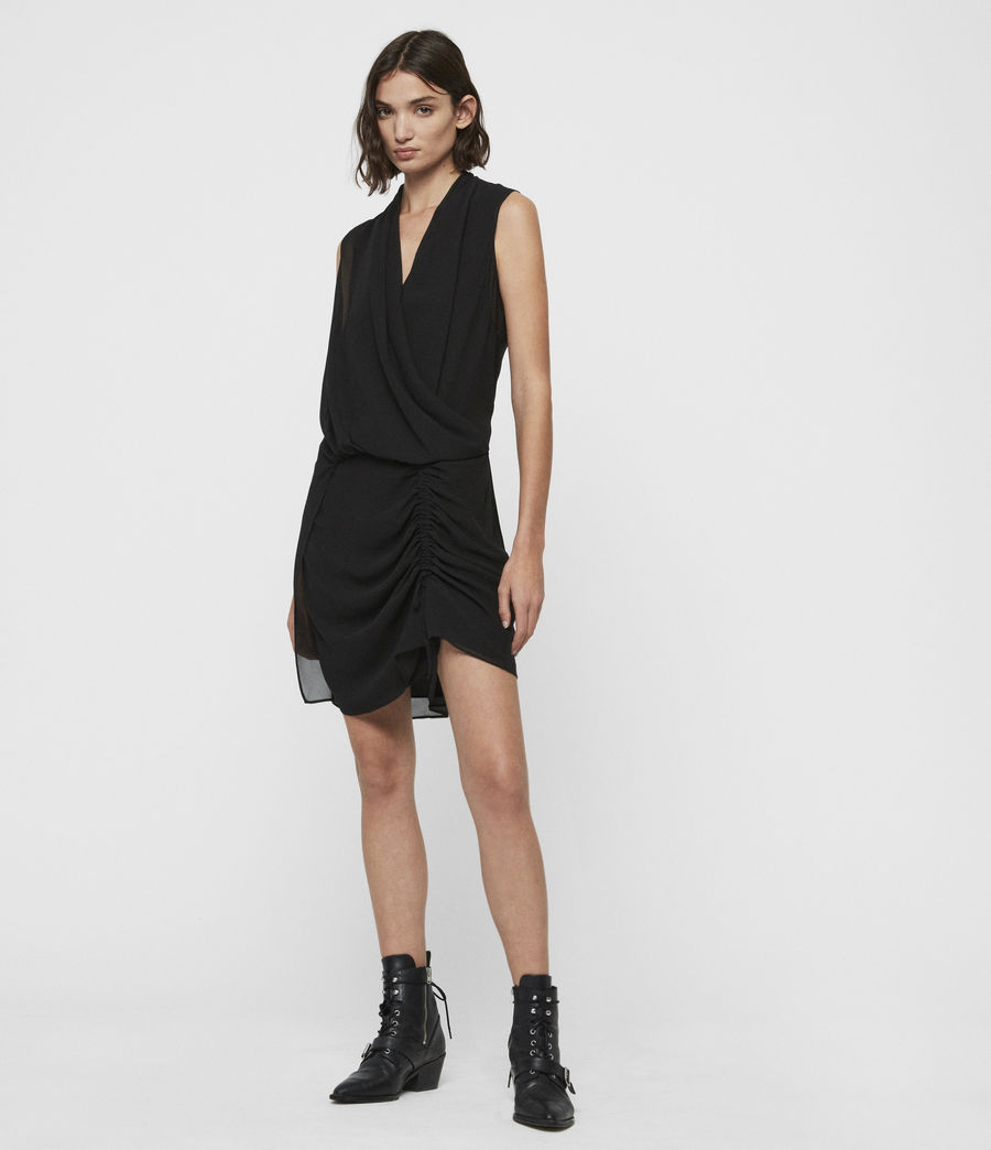 Womens Cathea Dress (black) - Image 2