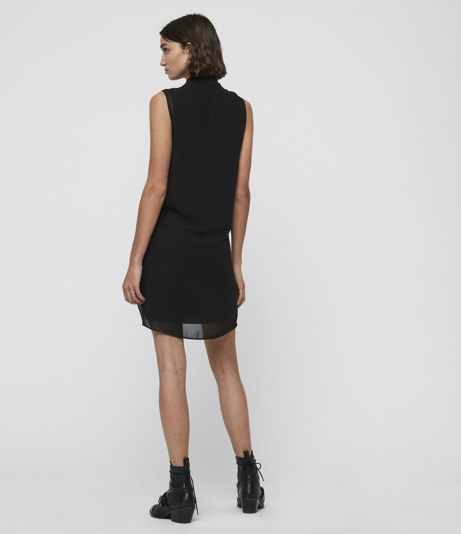 Womens Cathea Dress (black) - Image 4