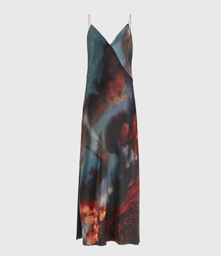 Womens Melody Epiphany Silk Blend Dress (dusk_red) - Image 2