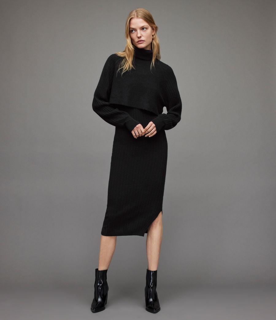 Womens Margot Dress (black) - Image 1