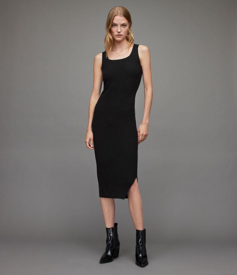 Womens Margot Dress (black) - Image 3