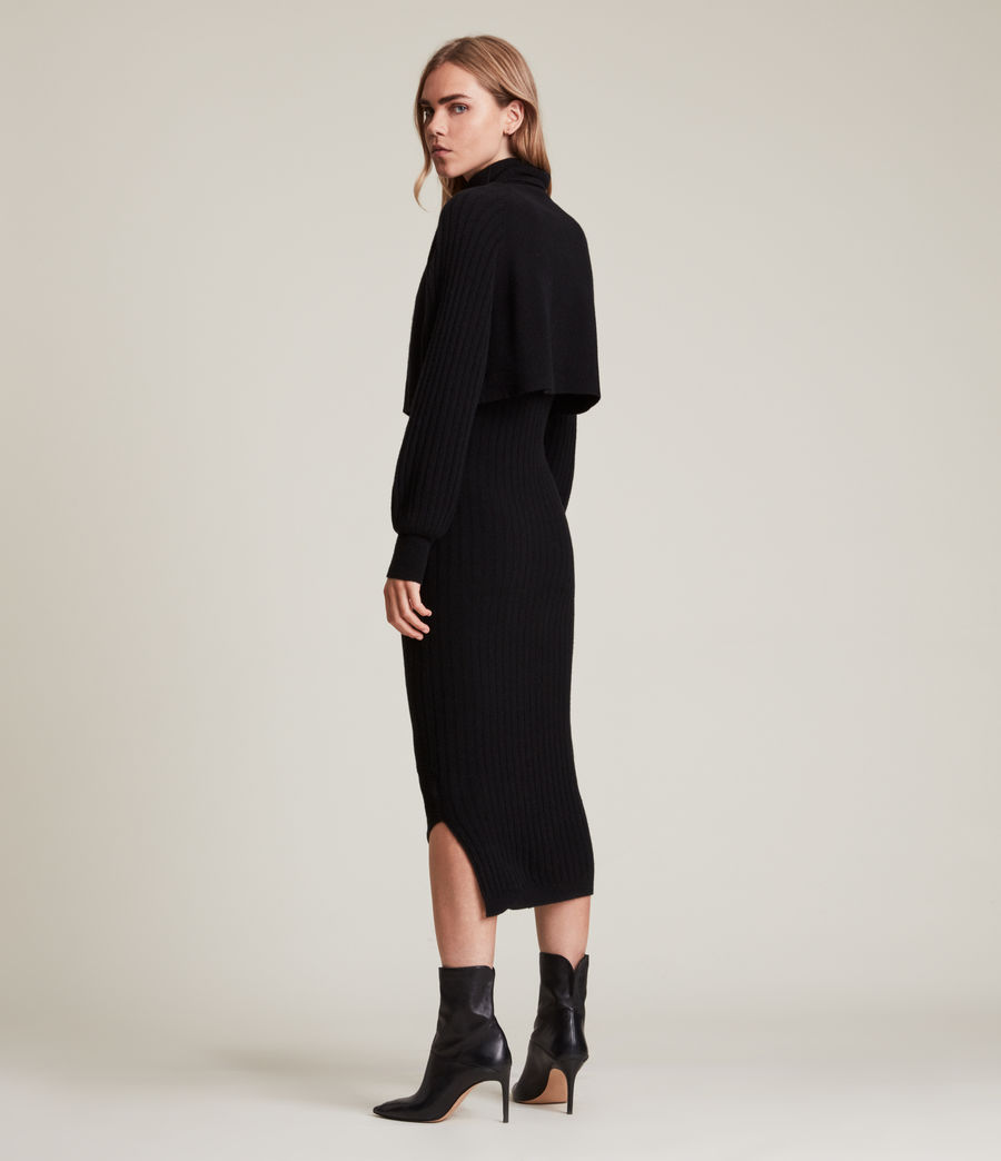 Womens Margot Dress (black) - Image 6