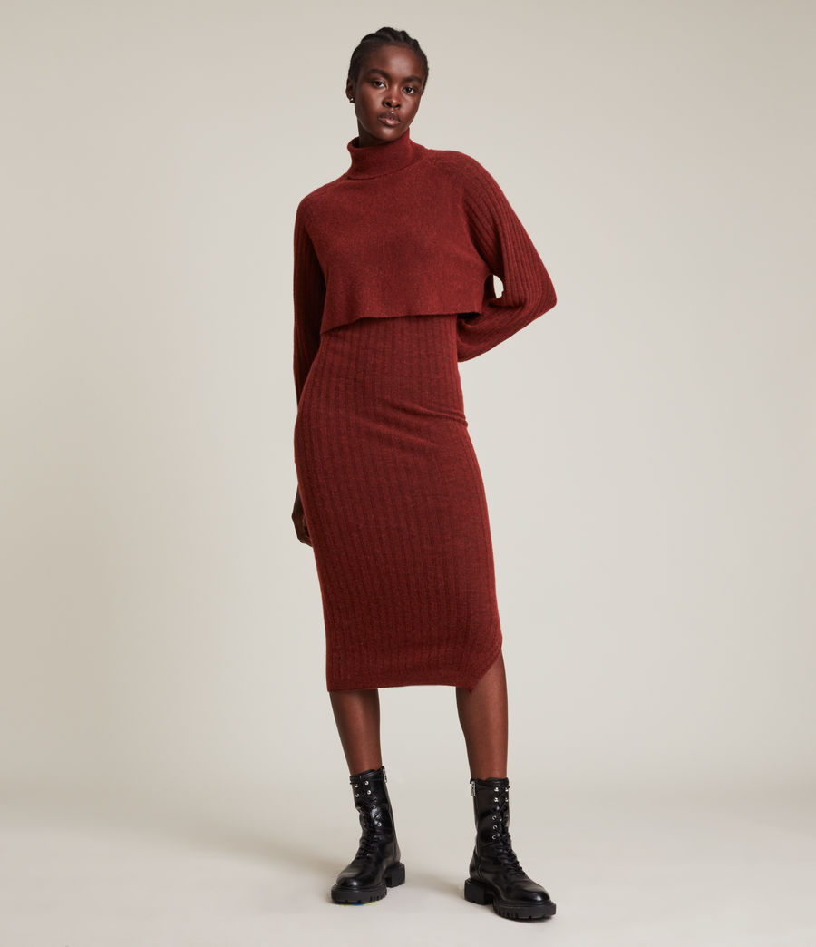Womens Margot Dress (wild_berry_red) - Image 1