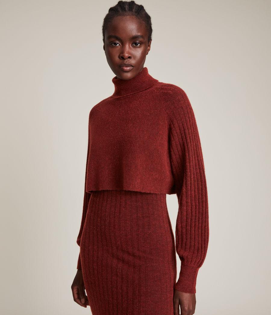 Womens Margot Dress (wild_berry_red) - Image 2