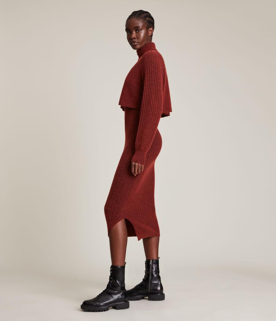 Womens Margot Dress (wild_berry_red) - Image 3
