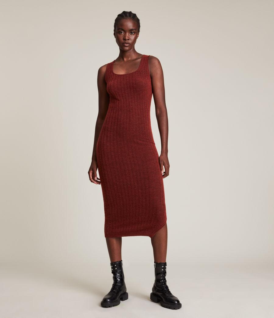 Womens Margot Dress (wild_berry_red) - Image 5