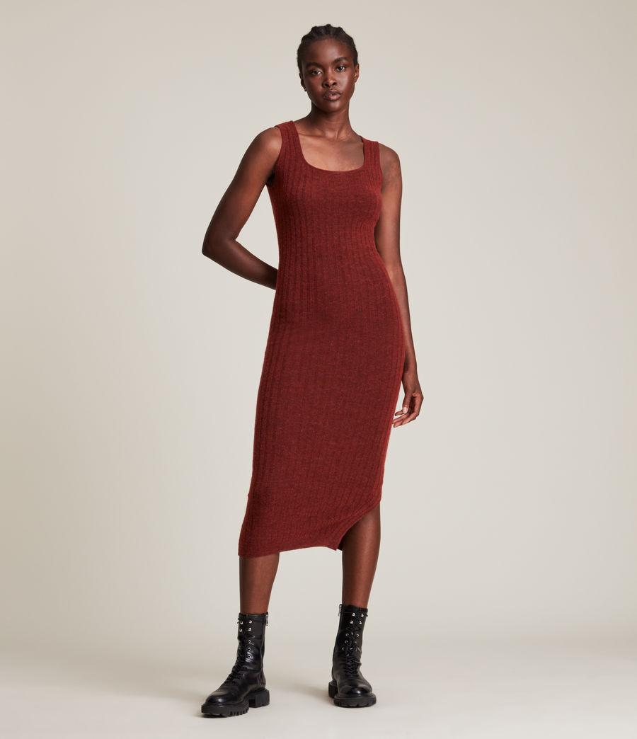Womens Margot Dress (wild_berry_red) - Image 7