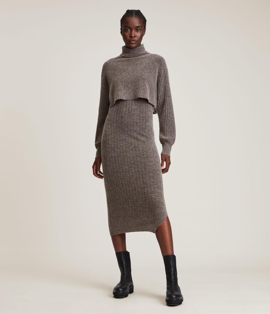 Womens Margot Dress (doe_brown_marl) - Image 1