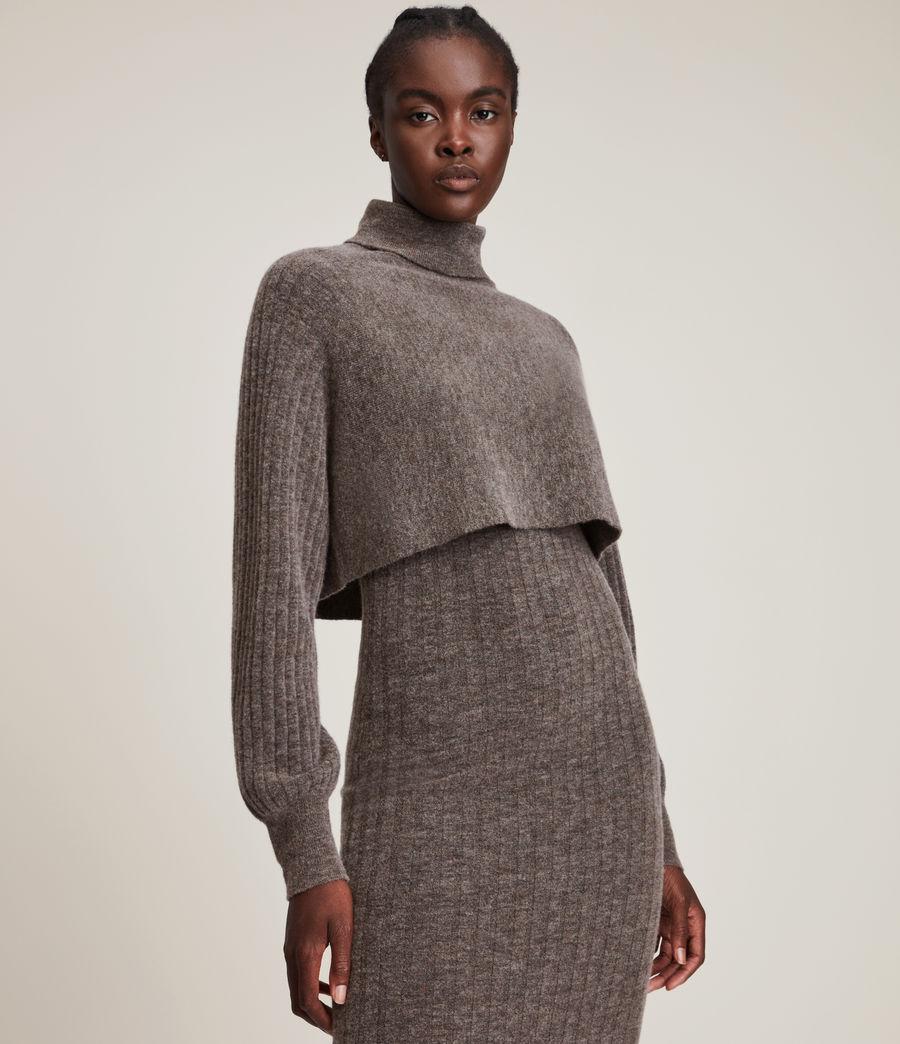 Womens Margot Dress (doe_brown_marl) - Image 4