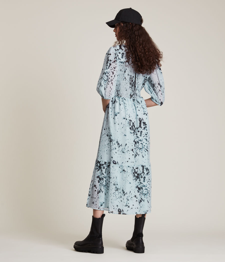 Women's Sadie Portland Dress (blue) - Image 4