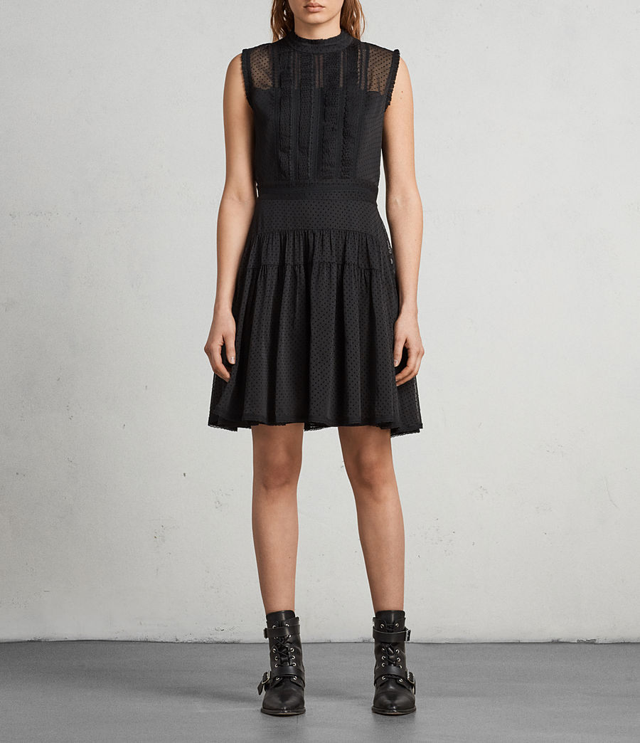 Womens Myra Dress (black) - Image 1