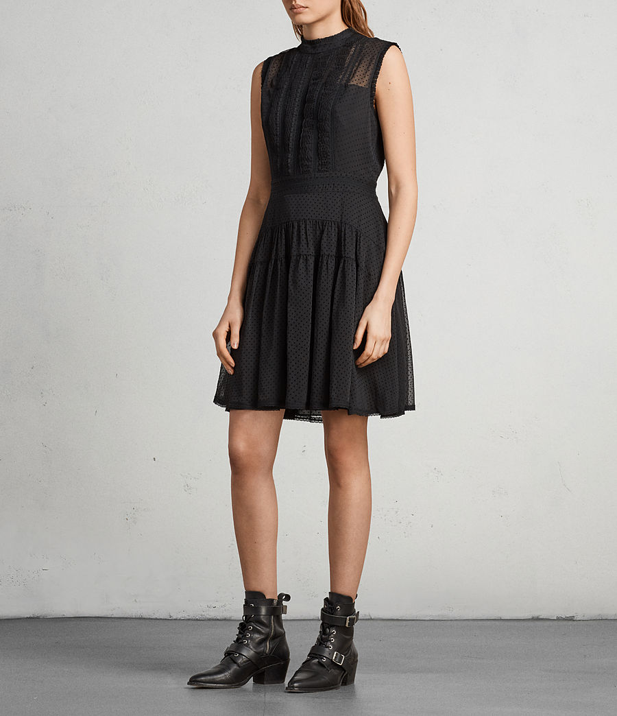 Womens Myra Dress (black) - Image 3