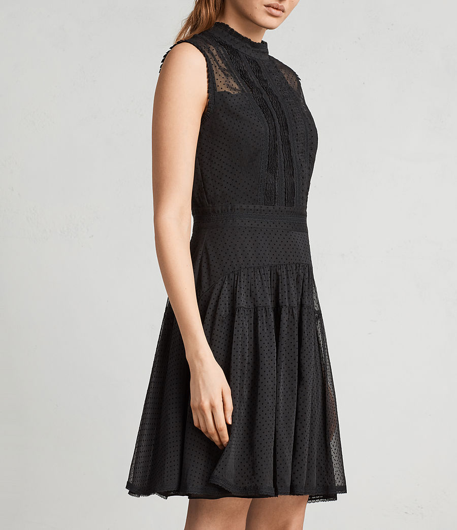 Womens Myra Dress (black) - Image 4