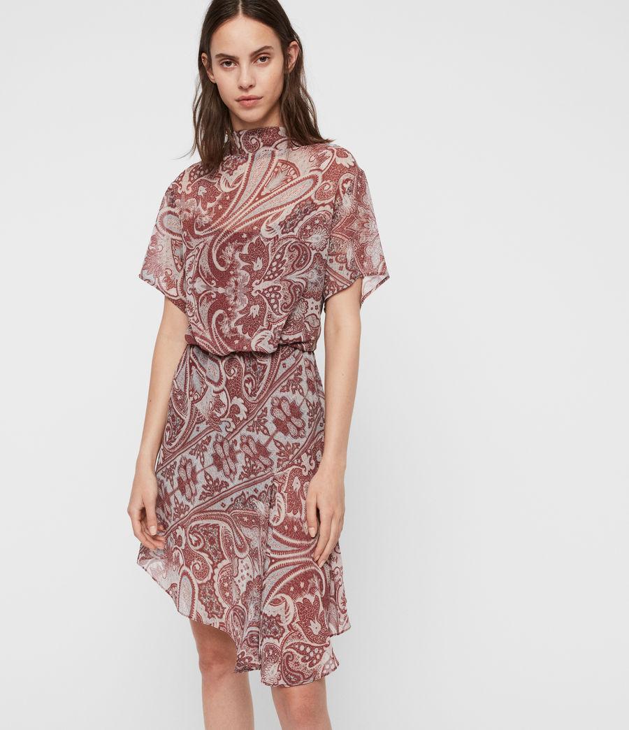 Womens Giulia Scarf Dress (red) - Image 5