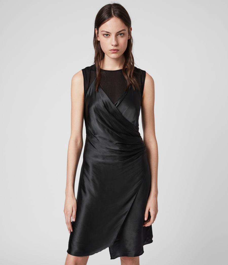 Mujer Vestido Cruzado Carlotta (black) - Image 1