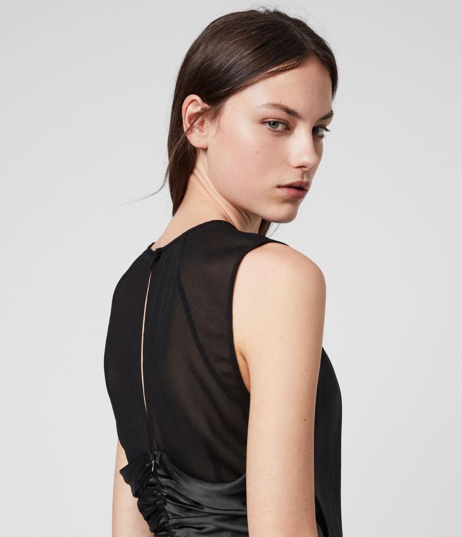 Mujer Vestido Cruzado Carlotta (black) - Image 4