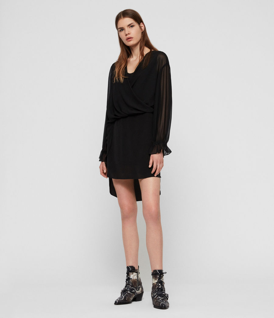 Womens Penny Dress (black) - Image 1
