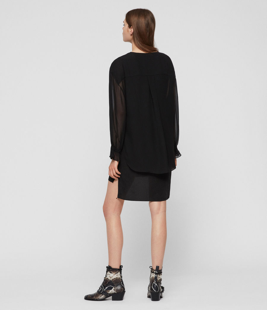 Womens Penny Dress (black) - Image 4
