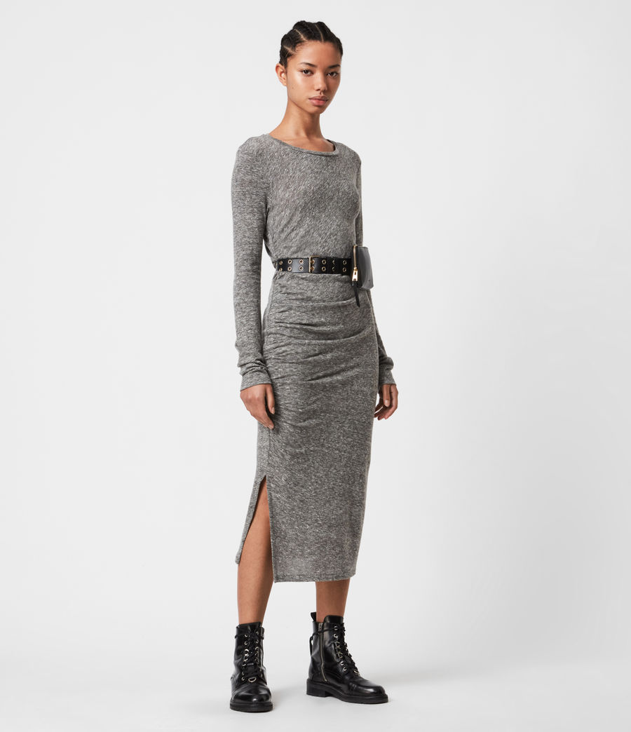 Women's Tina Dress (grey_marl) - Image 1