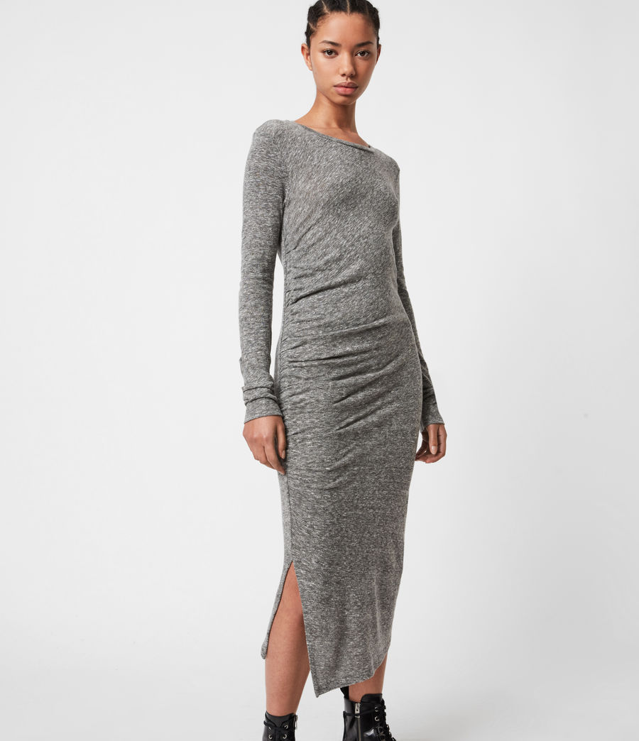 Women's Tina Dress (grey_marl) - Image 4