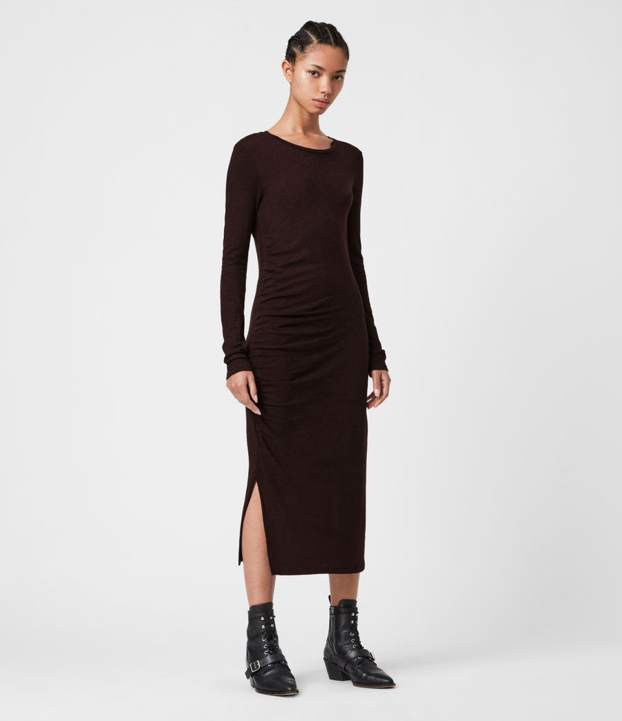 Women's Tina Dress (burgundy_red) - Image 1