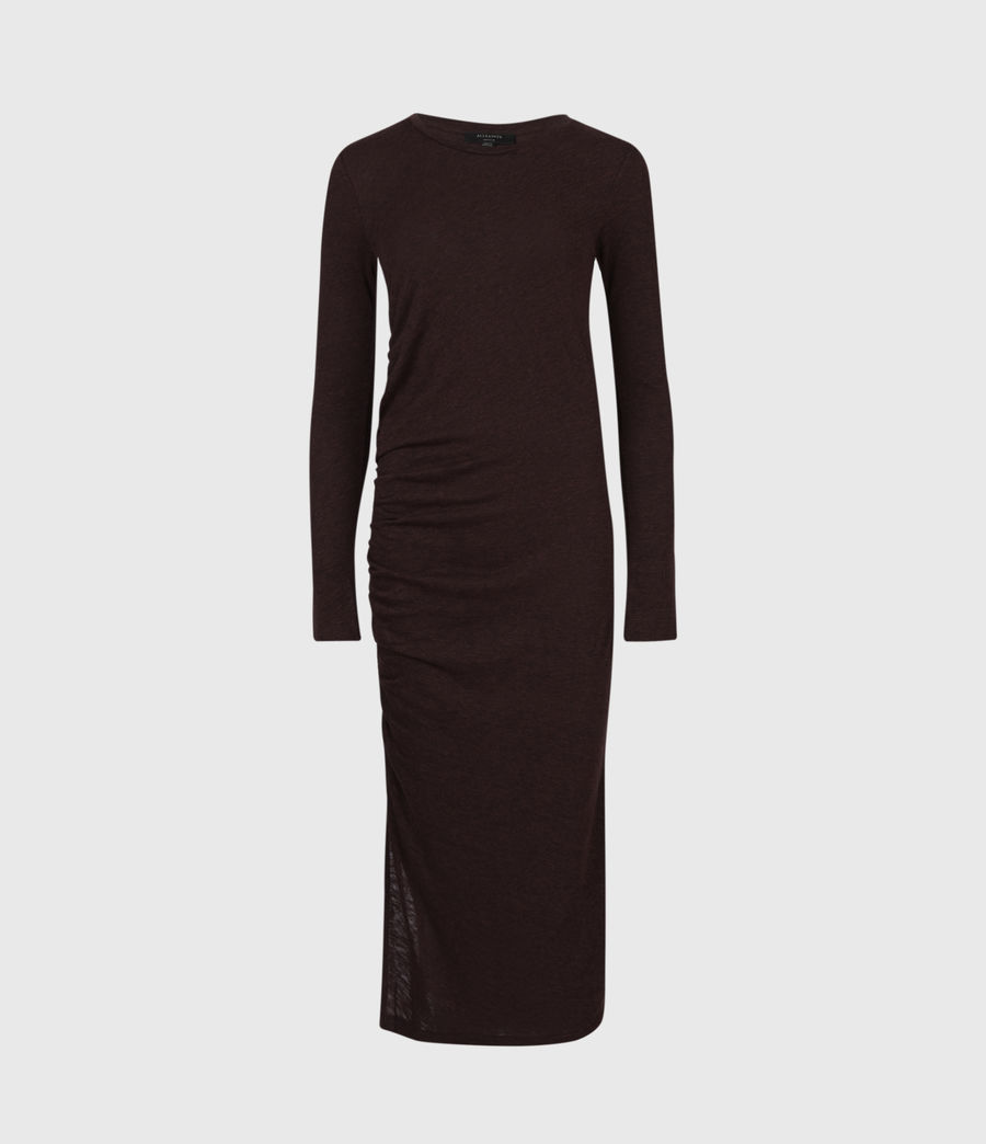 Women's Tina Dress (burgundy_red) - Image 2
