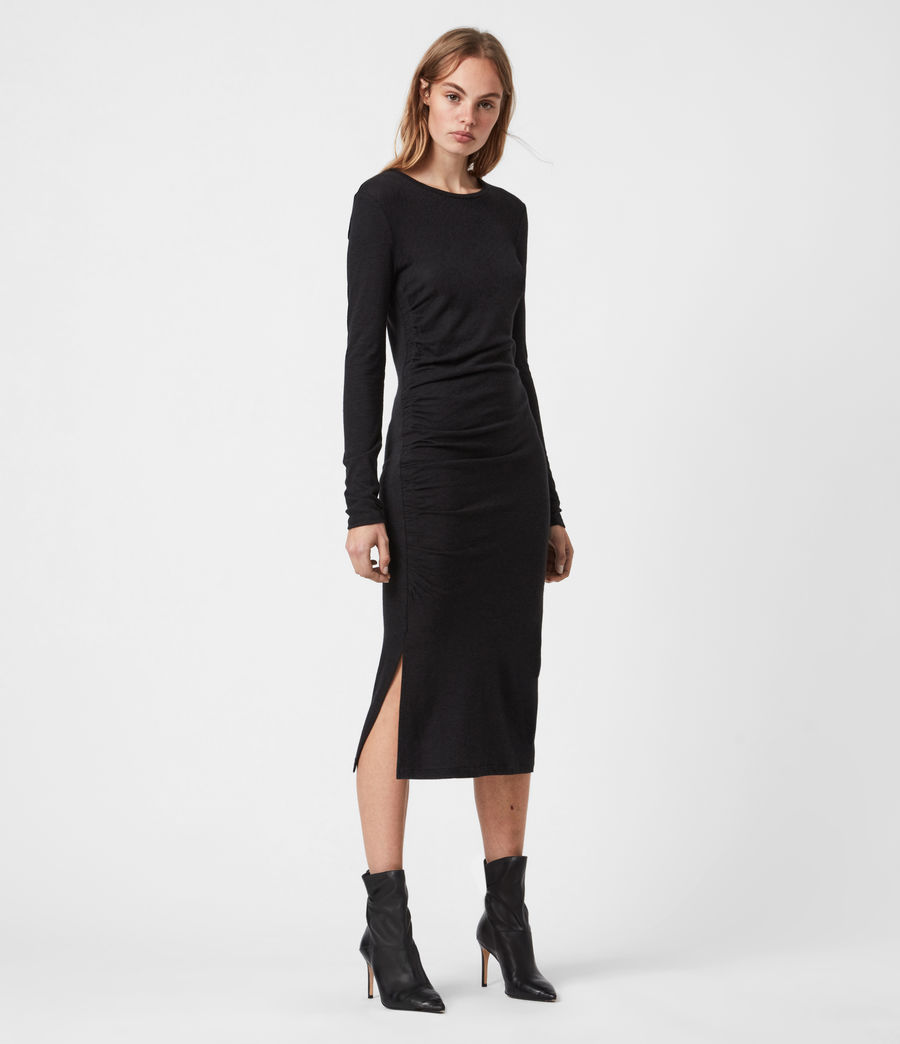 Womens Tina Dress (black) - Image 1