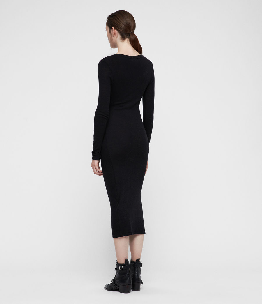 Womens Tina Dress (black) - Image 5