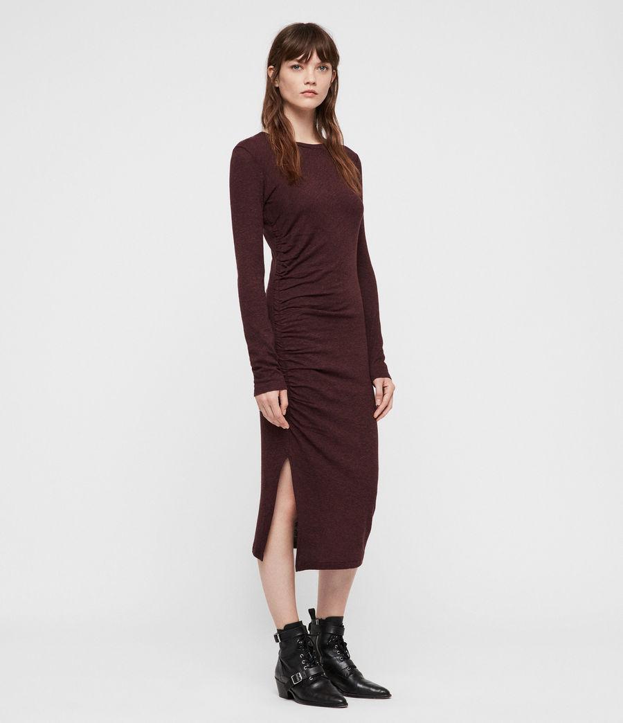 Damen Tina Kleid (burgundy_red_marl) - Image 1