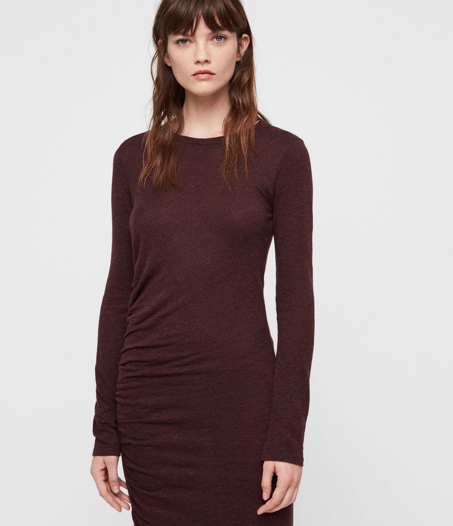 Damen Tina Kleid (burgundy_red_marl) - Image 2