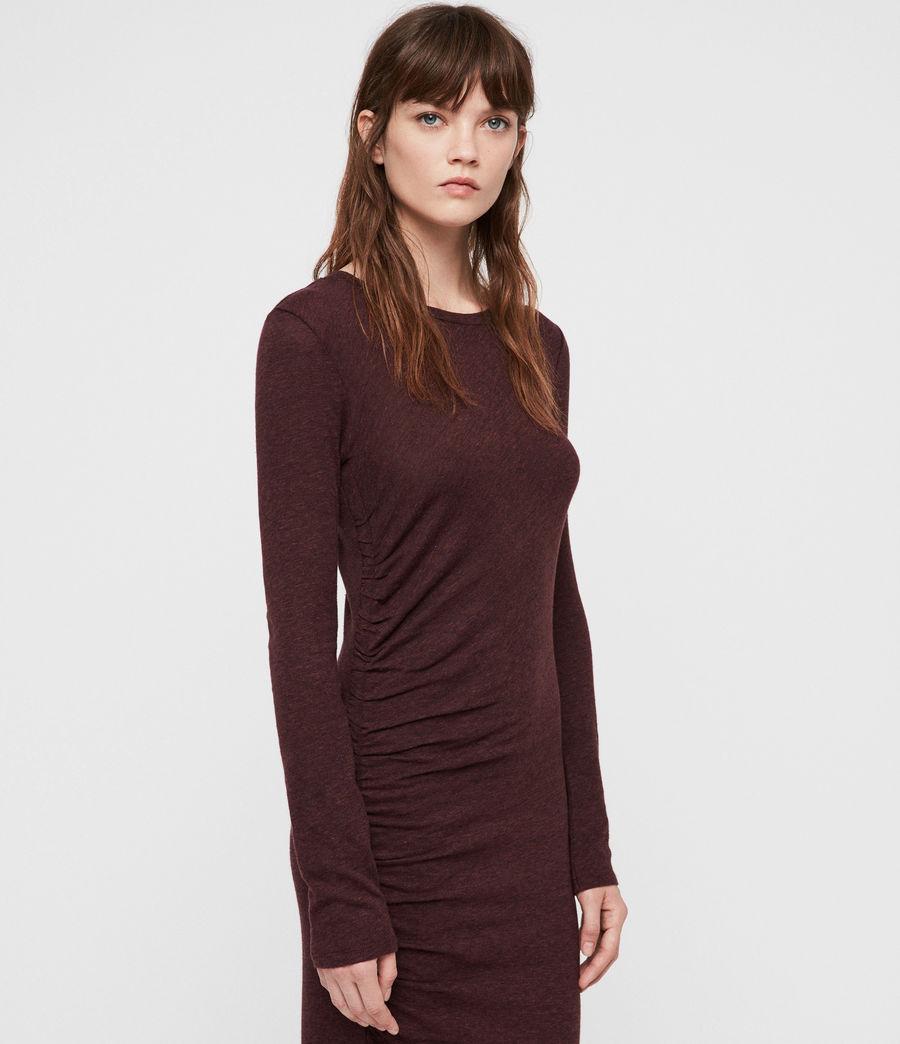Mujer Tina Dress (burgundy_red_marl) - Image 4