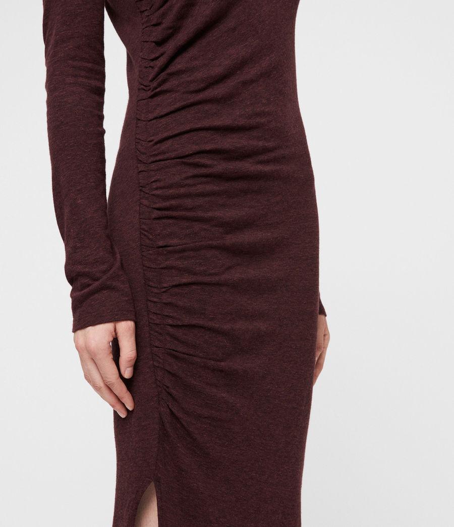 Mujer Tina Dress (burgundy_red_marl) - Image 5