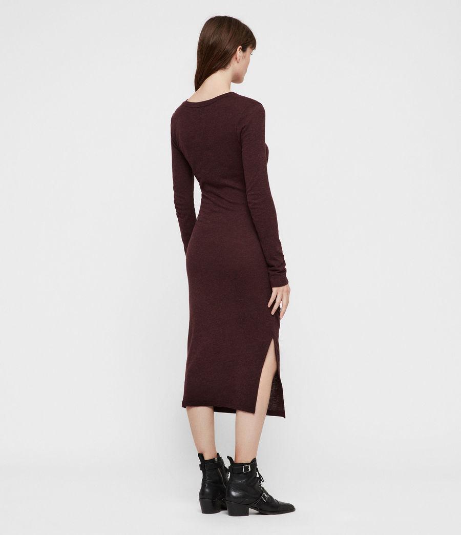 Mujer Tina Dress (burgundy_red_marl) - Image 6