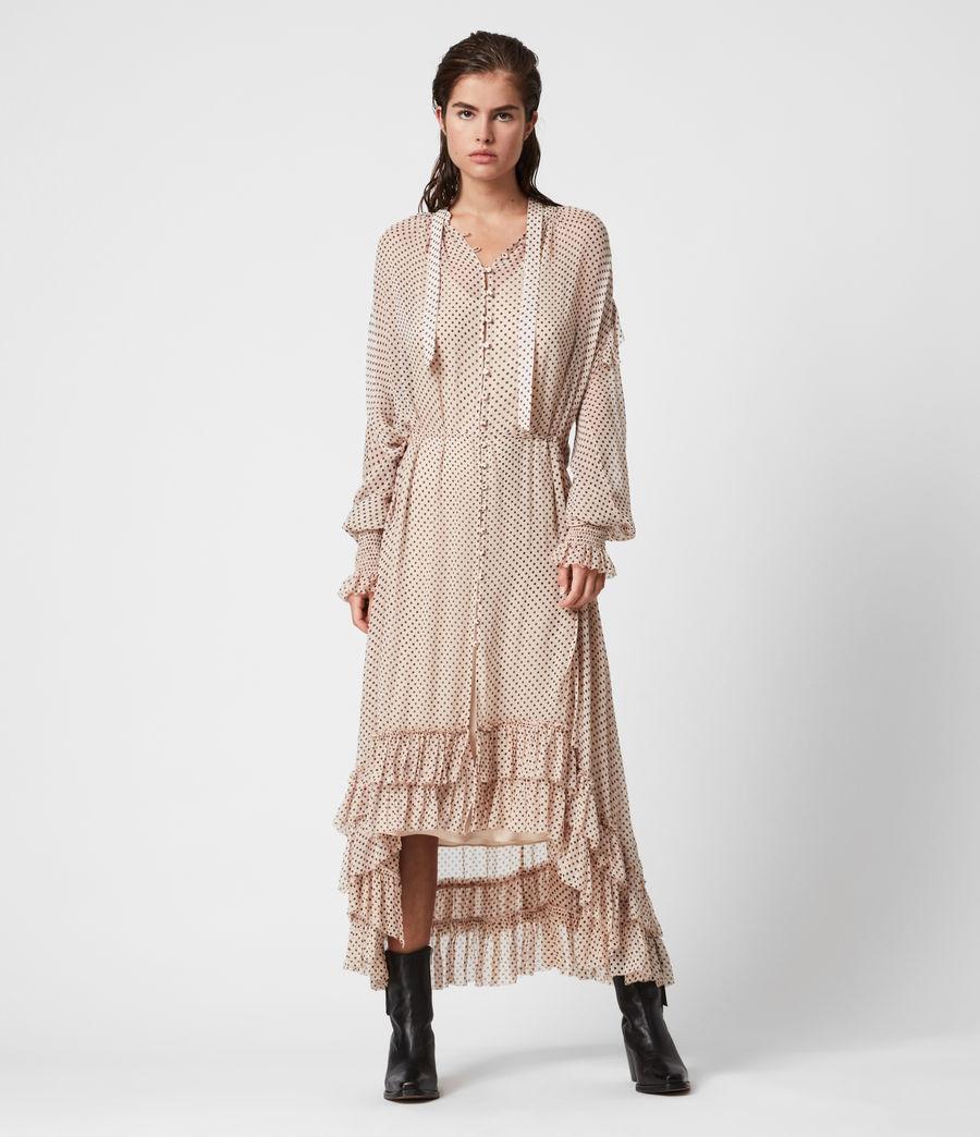 Womens Lara Dot Dress (nude_pink) - Image 1