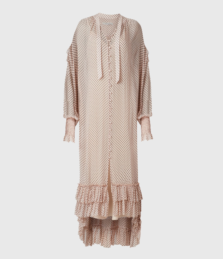 Womens Lara Dot Dress (nude_pink) - Image 2
