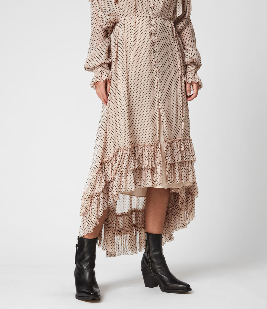Womens Lara Dot Dress (nude_pink) - Image 4