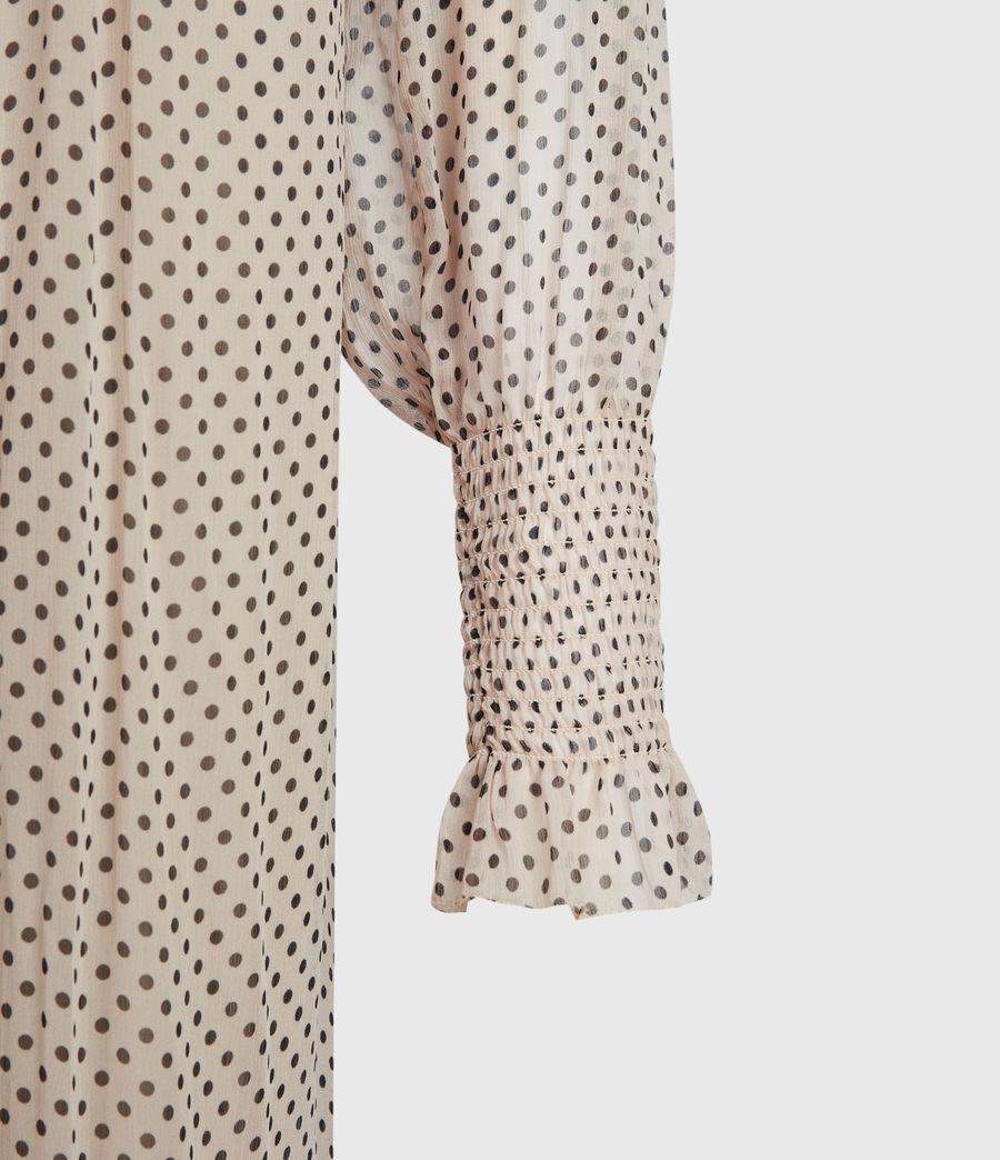 Womens Lara Dot Dress (nude_pink) - Image 6