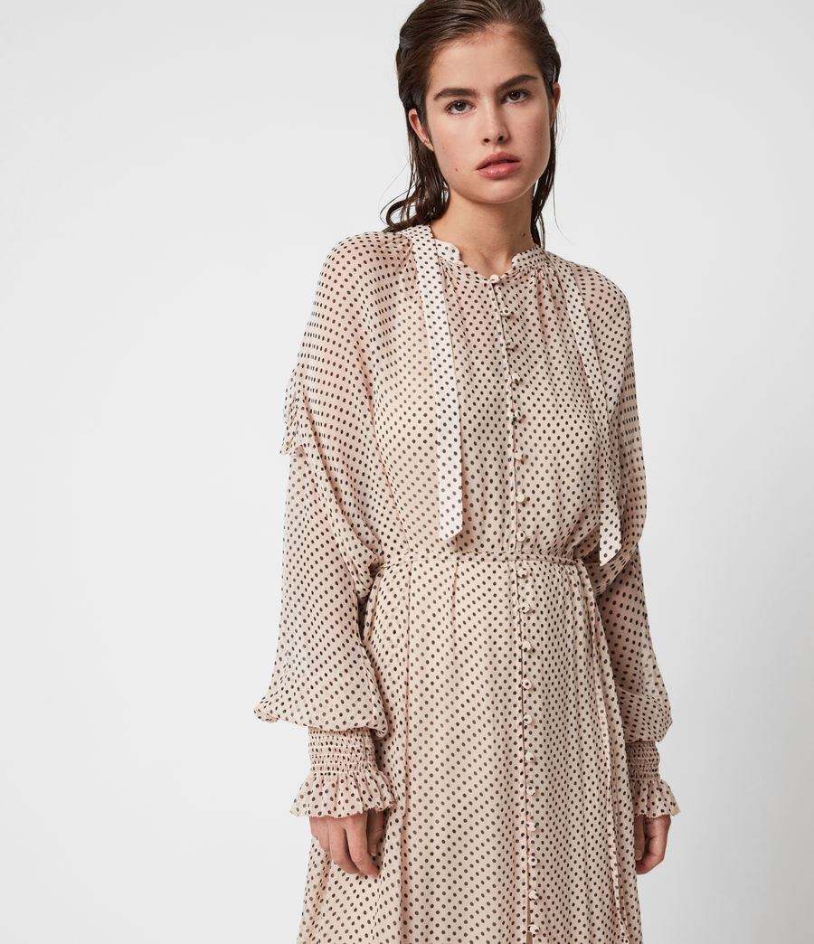 Women's Lara Dot Dress (nude_pink) - Image 7