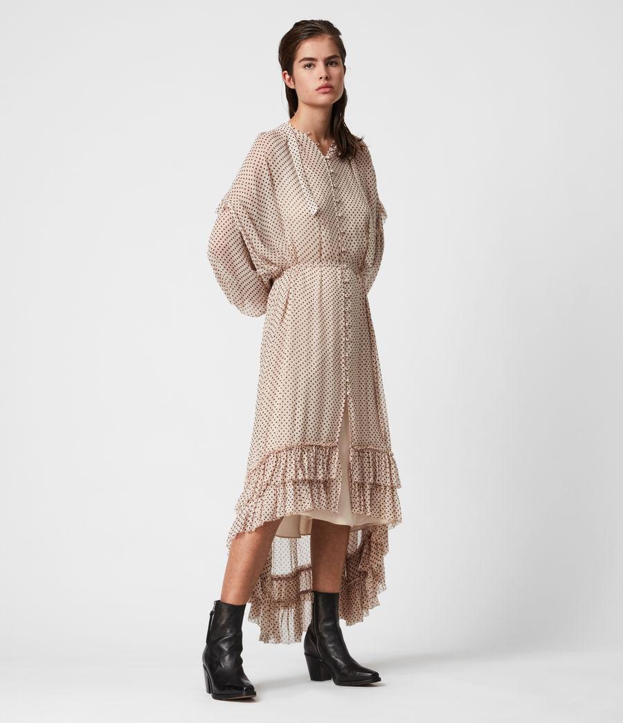 Womens Lara Dot Dress (nude_pink) - Image 8
