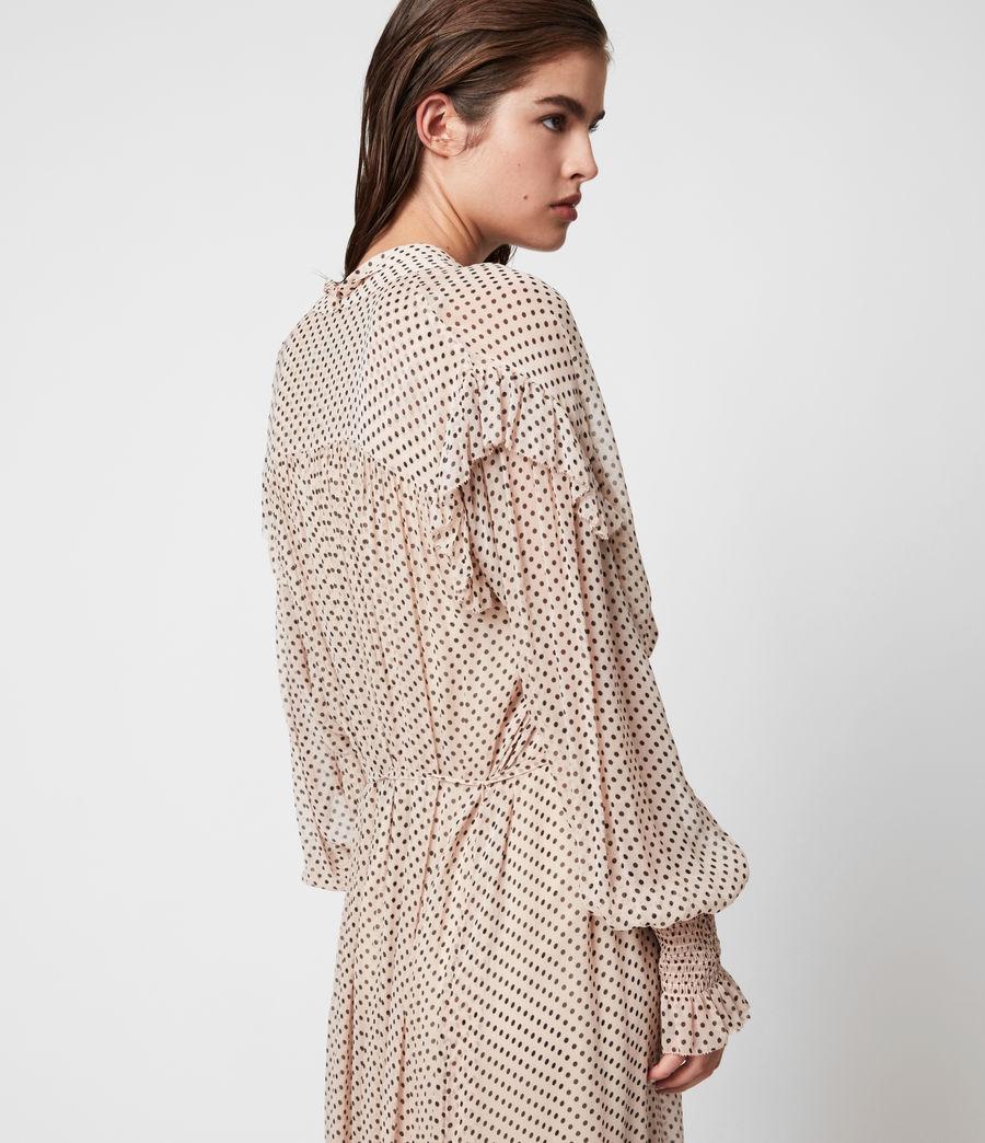 Womens Lara Dot Dress (nude_pink) - Image 9