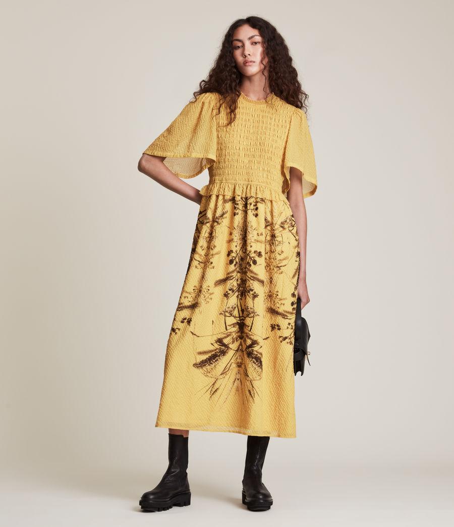 Womens Mya Iona Dress (yellow) - Image 1