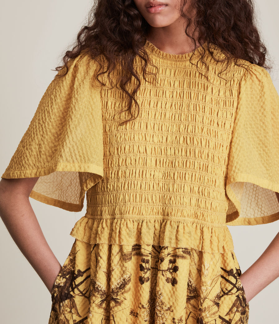 Womens Mya Iona Dress (yellow) - Image 3