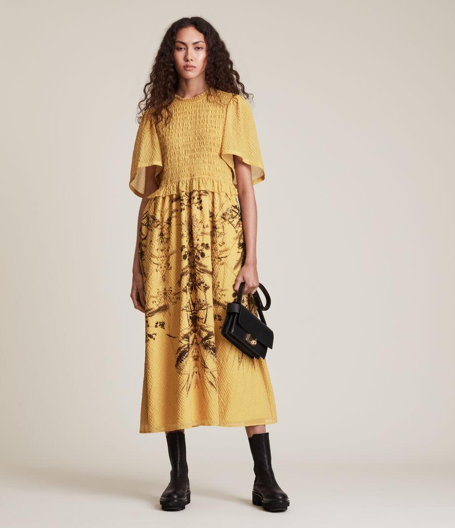 Womens Mya Iona Dress (yellow) - Image 4