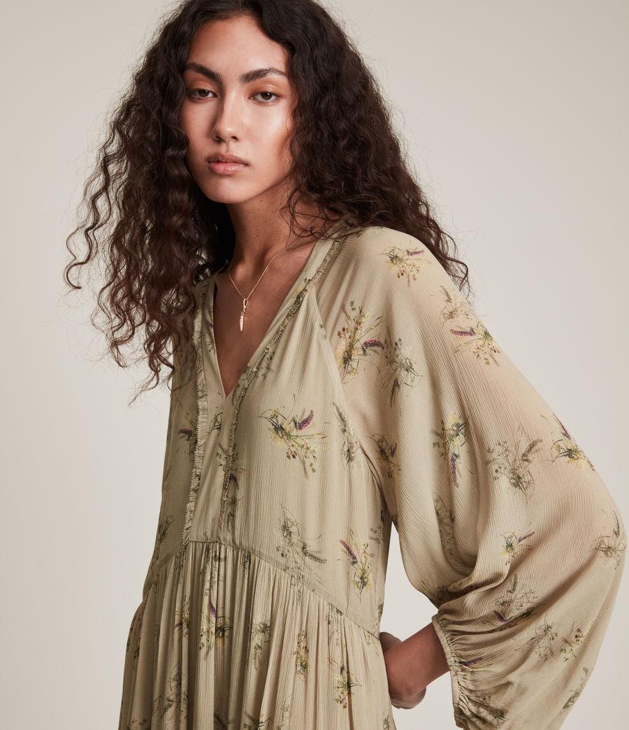 Women's Trude Caledonian Dress (khaki_green) - Image 1